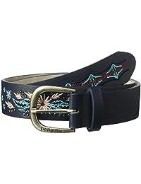 Desigual - Cinturón para mujer con bordado de flores vaqueras 4e8a02b713ac