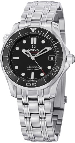 Omega 212.30.36.20.01.002 Seamaster Automatic Unisex Watch - Black Dial ()