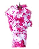 SACAS 100g white with Hot Pink Tips Feather Chandelle boa