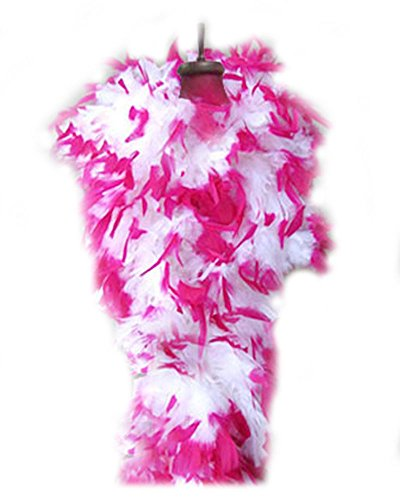 SACAS 100g white with Hot Pink Tips Feather Chandelle boa for $<!--$16.99-->