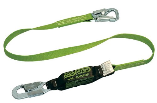 - Miller by Honeywell 910B/6FTGN 6-Feet BackBiter Tie-Back Adjustable Web Lanyard with One Locking Snap Hook and One 5K Snap Hook, Green