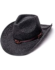 OLDSTONE QUALITY Old Stone Straw Cowboy Cowgirl Hat for Men Women Wide Brim Sun Hat Western Style