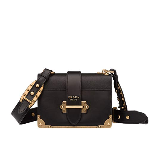 (HH-Prada Cahier leather shoulder bag for women)