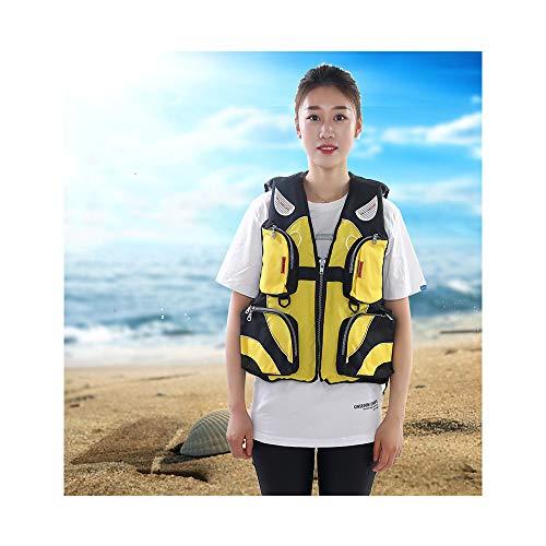 Life Jacket Snorkel Vest Adult Inflatable Swim Snorkel Vest for Snorkeling, Suitable for 80-220lbs