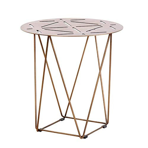 (Tables YNN Bedside Nordic Small Coffee Modern Living Room Sofa Side End Tea Corner Bedroom Bedside, Iron (Size : 50x54cm) )