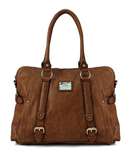 Scarleton Medium Belt Accent Tote Bag H126404 - Brown