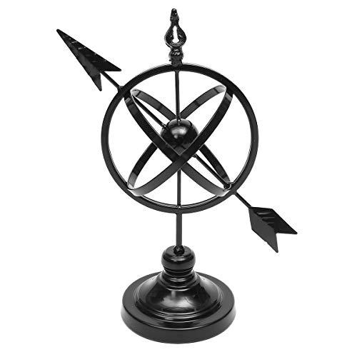 Kisstaker Armillary On Stand Wrought Iron Rustic Arrow Armillary Sundial Sphere Sculpture Globe Garden Home - Arrow Wrought Iron