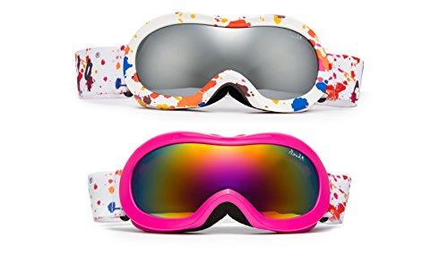 Cloud 9 -Professional Girls Ski Goggles Unique Splatter Paint Anti-Fog Windproof UV400 Dual Lens Triple Layers Foam Snowboarding Snow Goggles