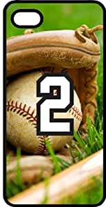 Baseball Sports Fan Player Number 2 Smoke Rubber Decorative iPhone 5c Case