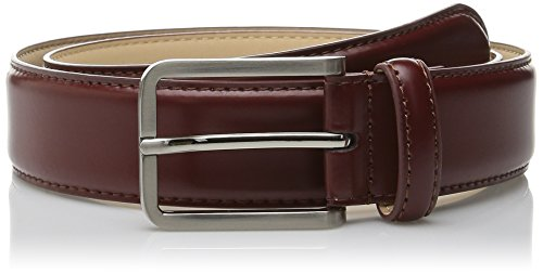 Stacy Adams Men's 32mm Genuine Smooth Leather Belt, Cognac, 36 (Belt Adam Buckle)