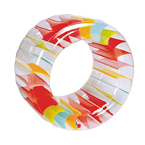 HAPPYDAY Inflatable Roller Ball Toy, Rainbow Swimming Pool Water Wheel, Moveable Training Props for Kids Adults Outdoor Play Water Or Grassland