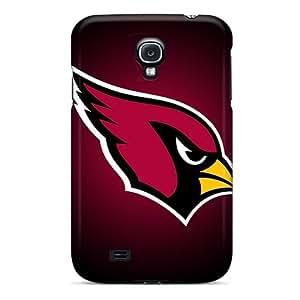 Shock-Absorbing Hard Phone Case For Samsung Galaxy S4 With Provide Private Custom Lifelike Arizona Cardinals Image CharlesPoirier