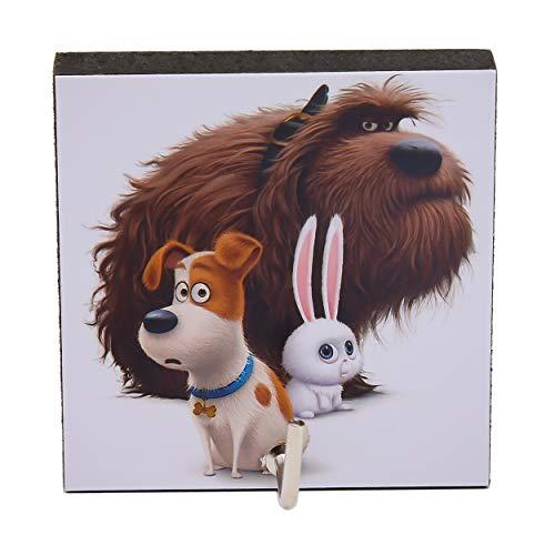 - Agility Bathroom Wall Hanger Hat Bag Key Adhesive Wood Hook Vintage Dogs & Rabbit - The Secret Life of Pets's Photo
