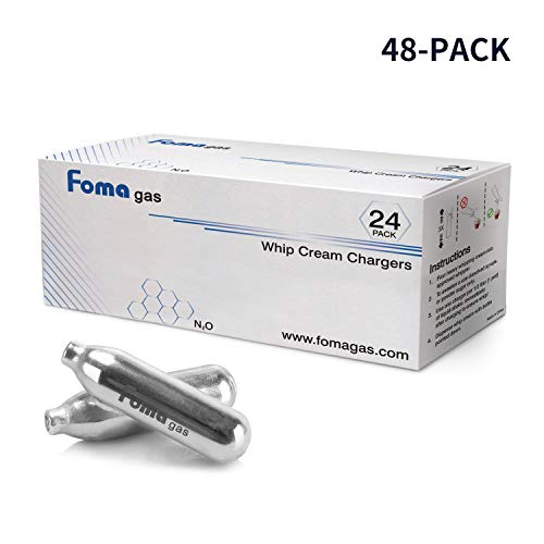 (Whipped Cream Chargers, Cream Chargers, N2O Chargers, by Foma Gas, Case of 48)
