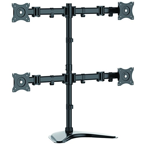 StarTech.com Quad Monitor Stand - Crossbar - Steel - Monitors up to 27