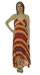 Calvin Klein Women's Pleated Hi Low Hem Dress Multi 2