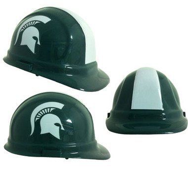 NCAA College Michigan State Spartans Hard Hats with Ratchet Suspension 1