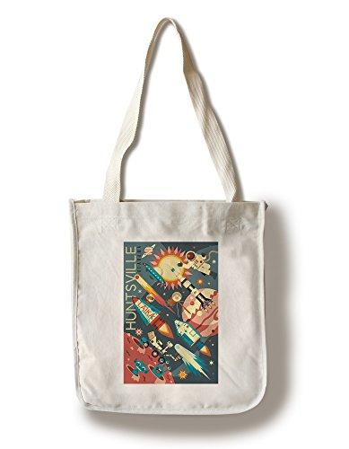 Huntsville, Alabama - Space Geometric (100% Cotton Tote Bag - - Alabama Shopping Huntsville