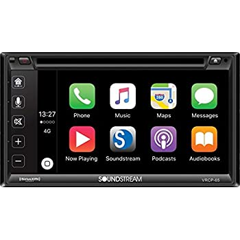"""Soundstream Car Multimedia Entertainment Center with Apple Car Play/Android Phone Link/SiriusXM-Ready, 6.2"""""""
