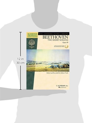Beethoven - Two Short Sonatas, Opus 49 (Hal Leonard Piano Library) Bk/online audio