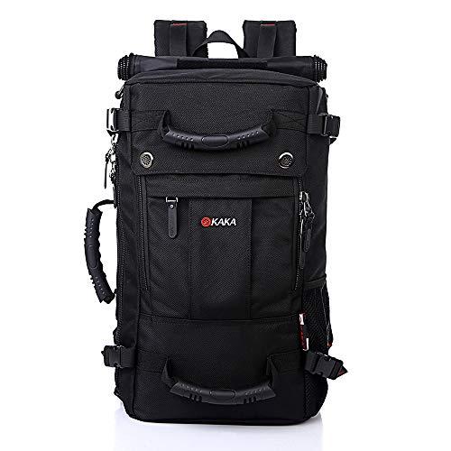 Kaka Black Travel Backpack,Laptop Backpack Waterproof Hiking Backpack Men Women College Students,Anti-Theft Bag Fits 17 inch Laptop 40L(Black)