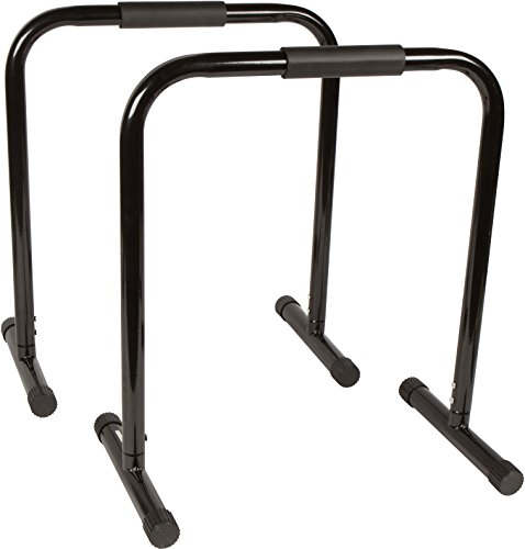 "Trademark Innovations 28.5"" Dip Station Bars for Fitness Exercise"