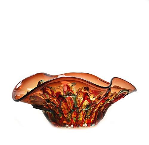 Allegria Oval Centerpiece Bowl Amethyst - Glass Bowl Amethyst