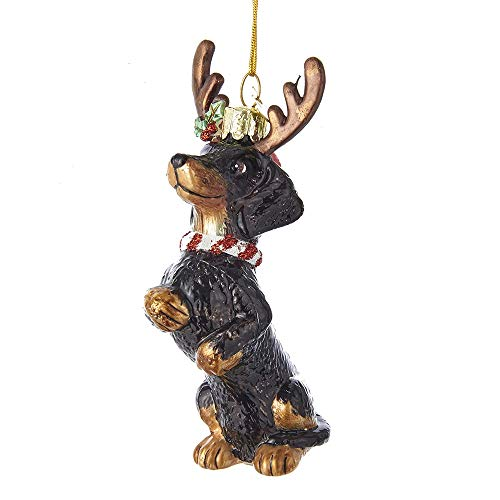 Used, Noble Gems Dachshund with Antlers Glass Ornament for sale  Delivered anywhere in USA