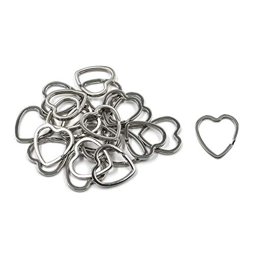Two Hearts Ring - Tulead Iron Heart Key Chain Rings