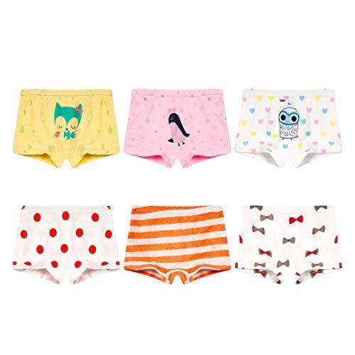 Girls' Penguin Panties Fox Underwear Colorful Panty White Undies 6-7T