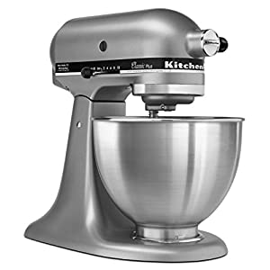 KitchenAid KSM75WH Classic Plus Series 4.5-Quart Tilt-Head Stand Mixer 41Y19rai6UL