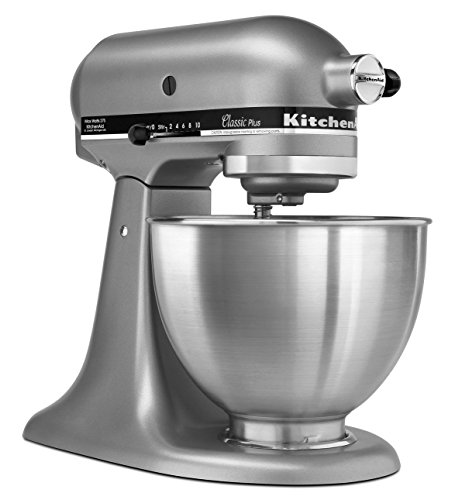 Professional 5 Plus Series Bowl - KitchenAid KSM75SL Classic Plus 4.5-Qt. Tilt-Head Stand Mixer, Silver