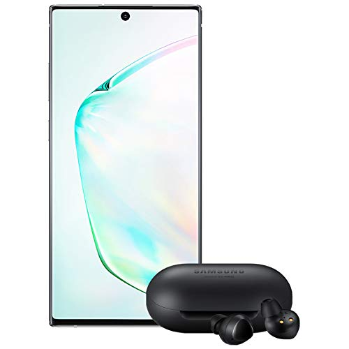 Samsung Galaxy Note 10+ Plus Factory Unlocked Cell Phone with 256GB (U.S. Warranty), Aura Glow (Silver) Note10+ w/Galaxy Buds