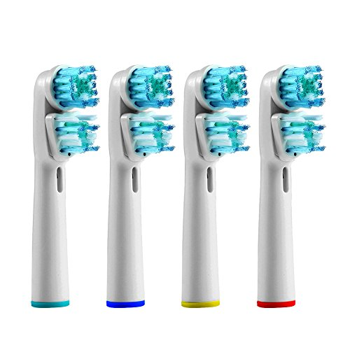 4pcs Replacement Toothbrush Heads Dual Clean for Braun Oral B SB-417A (4)