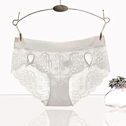 RRRRZ*Sexy tejido de encaje transparente sin marca de ropa interior femenina mencionadas de baja