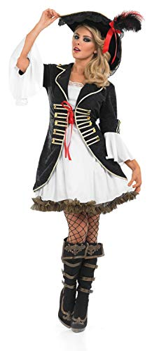 fun shack Womens Pirate Captain Costume Caribbean Pirates Leader Dress - XX-Large