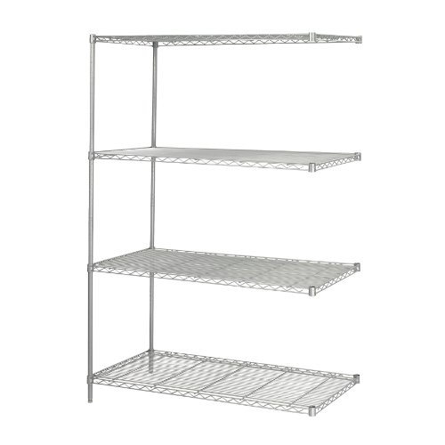 Safco Products 5295GR Industrial Wire Shelving Add-On Unit 48