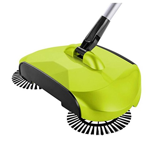 Alimao New Arrival 360 Rotary Home Use Magic Manual Telescopic Floor Dust Sweeper (Green)