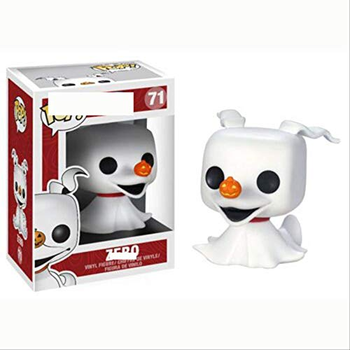 BVGA Funko Pop Christmas Horror Night Skeleton Jack Hand Office Aberdeen Modelo Zero Zero Ghost Dog 71 # Zero Zero Figura Coleccionable, Multicolor
