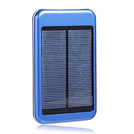 Amazon.com: 5000 mAh Cargador Solar portátil Banco de ...