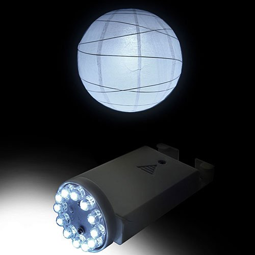 Fortune PLL-12W 12-LED Light for Paper Lanterns, 1-5/8'' Width x 3-5/8'' Height, White