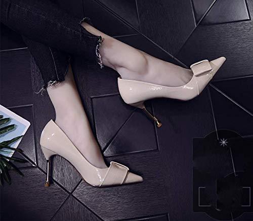 Donna Tacco Trentaquattro Moda Sexy Ha six Thirty Da Sottile scarpe Scarpe Col 8cm Alto Superficiale Solo Arco Bocca Femmina Alla Gtvernh Moda Equipaggiato wqftnPRx0