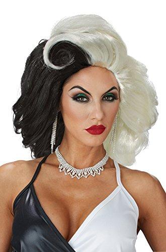Cruel Diva Adult Womens Costumes (Womens Cruel Diva Curella De Vil Wig)