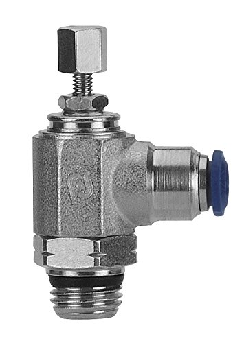 AIGNEP USA 88958-08-06 Flow Control, Knob Adjustment, Flow Out, 1/2'' Tube x 3/8'' Swift-Fit Universal Thread (Nickel Plated Brass)