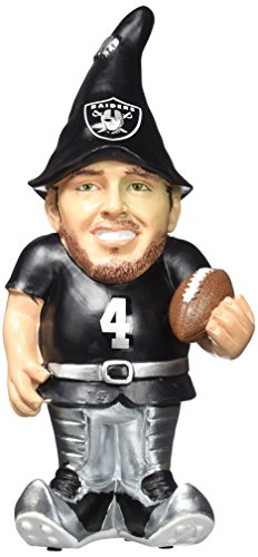 Oakland Raiders Carr D. #4 Resin Player Gnome ()