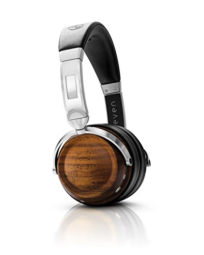 (EVEN EarPrint H2 Bluetooth Wireless Headphones that Adapt to the Way You Hear - with Mic (Walnut and Steel))