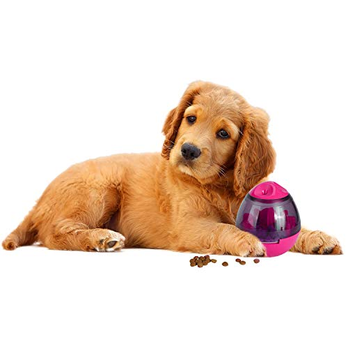 SILVERAL Treat Ball Dog Toy for Pet Increases IQ Interactive Food Dispensing Ball for Cats, Dogs, and Pets