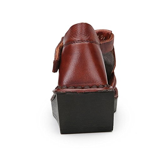 Scarpe Traspirante Sandali Stile Premio Di 1 Brown Moda Aggiornamento Creativo Fiocco Piatti 225 Con Donna Minority Basse KJJDE Velcro HUIGU In UdT6g4SgnW