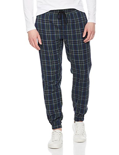 Rebel Canyon Young Men's Tartan Plaid Twill Pant Jogger Pant (X-Large, (Plaid Twill Pant)