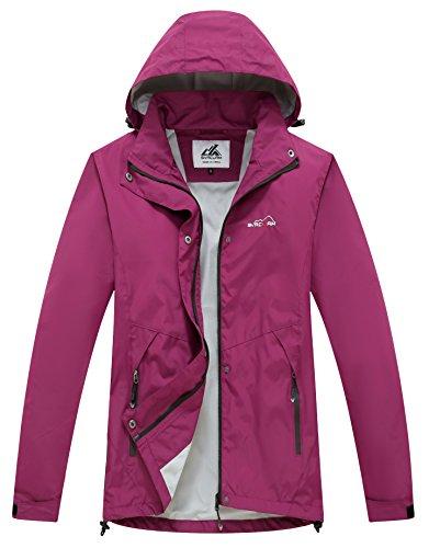 Svacuam Women's Waterproof Raincoat Windbreaker Jacket (Ladies Nylon Jacket)